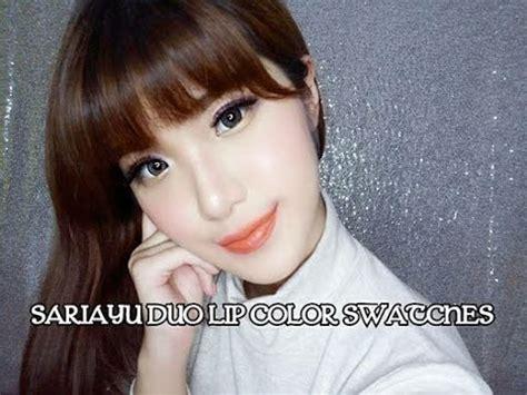 Lipstik Sariayu Duo Lip Color sariayu duo lip color trend warna gili lombok swatches lidya