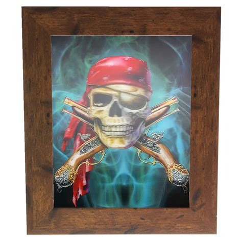 pirate home decor new pirate skull lenticular 3d picture poster painting