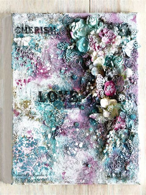 scrapbook canvas tutorial 37 best scrapbook mixed media tutorials images on