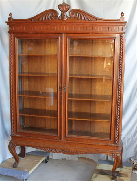 China Cabinet Glass Doors Bargain S Antiques 187 Archive Quality Door Oak China Cabinet With Beveled Glass