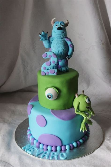 Monsters Inc 19 s inc birthday cake change the 2 to a 19 and we