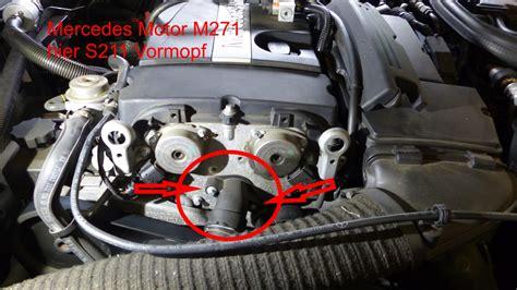 Thermostat Mercedes E200 W211 271 thermostat am m271 tauschen
