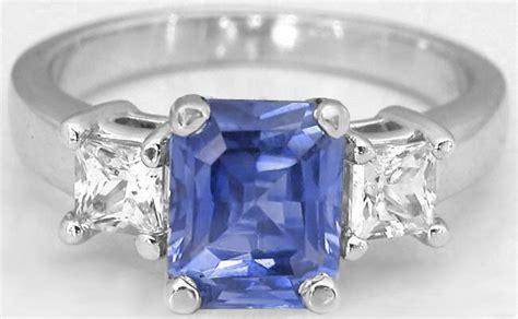 White Sapphire Ceylon 3 ceylon radiant cut ceylon sapphire and princess cut white