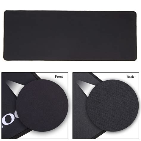 gaming mouse pad desk mat polos 400 x 900 mm black