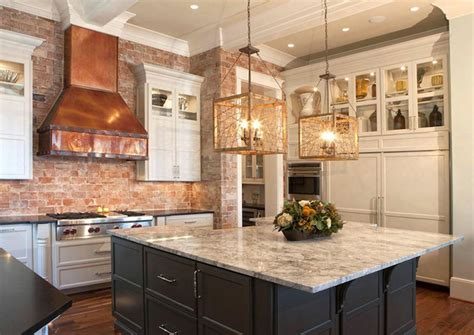 white kitchen with copper and wood accessories color scheme copper range hood transitional kitchen pheasant hill