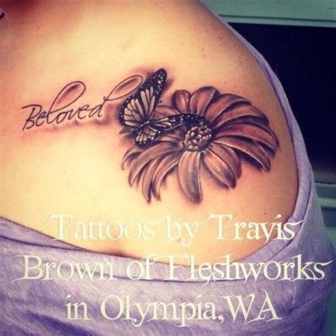 butterfly and sunflower tattoo designs best 25 brown ink ideas on brown