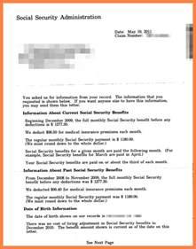 Rent Letter For Ssi 10 Social Security Benefits Letter Marital Settlements Information