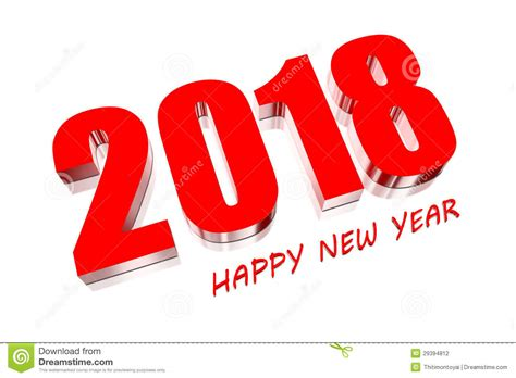 new year 2018 vacation period 3d 2018 stock photography image 29394812