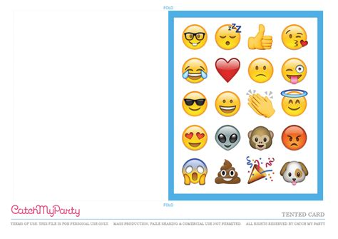 emoji birthday card template free emoji printables catch my