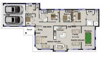 House Plan Designer Narrow 4 Bedroom 3 Living Areas Rumpus Room Real Estate House Plans For Sale Ebay