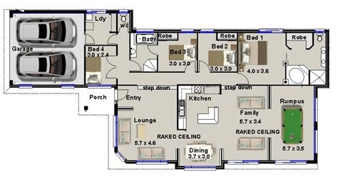 price to build 4 bedroom house narrow 4 bedroom 3 living areas rumpus room real estate house plans for sale ebay