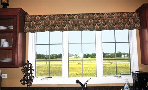 ideas curtain valance patterns for kitchen window modern