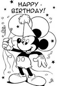 birthday boy colouring pages