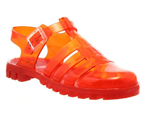 Jelly Shoes Sale 10 juju maxi low jelly shoes burnt sandals