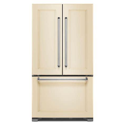 refrigerator panels kitchenaid 36 in w 21 9 cu ft door refrigerator