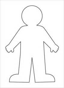 human figure template printable