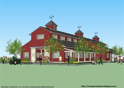 barn plans home garden plans news b20h large horse barn plans for