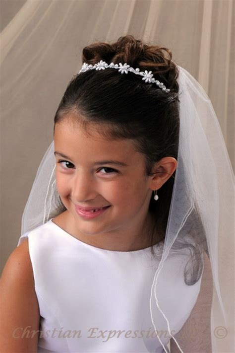 cute hairstyles for first communion first communion hairstyles with veil long hairstyles