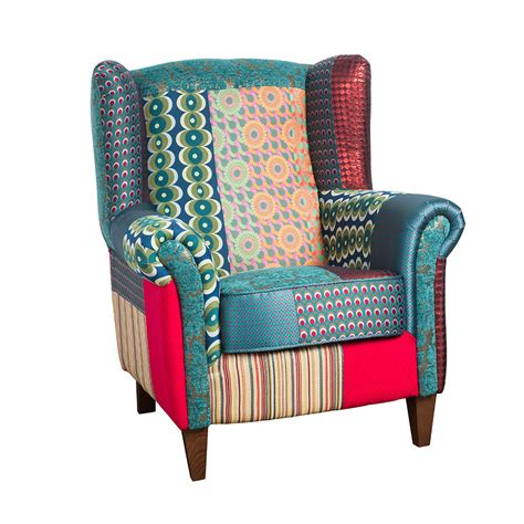 patchwork armchairs for sale buy desigual patchwork jacquard armchair green amara