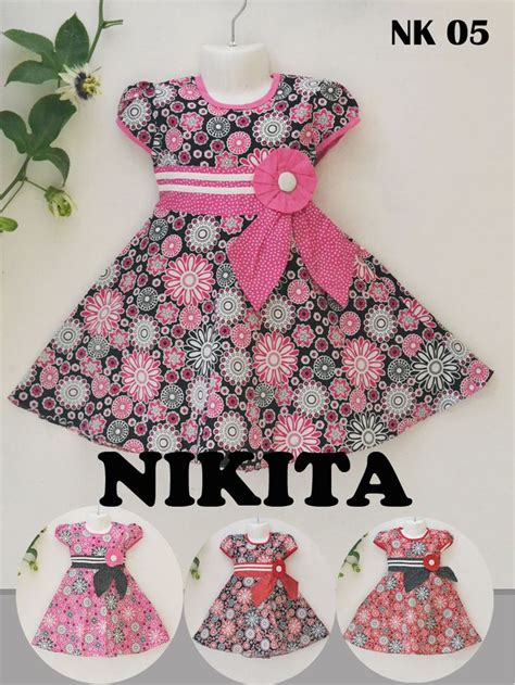 Dress Anak Branded Flower Fkg www khasanahgrosir khasanah grosir produsen fashion