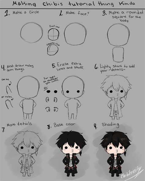 doodle drawing tutorials how to draw chibi tutorial by chibitrinity on deviantart