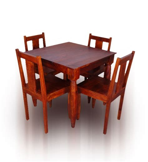 olida stylish mango wood four seater dining set by mudra