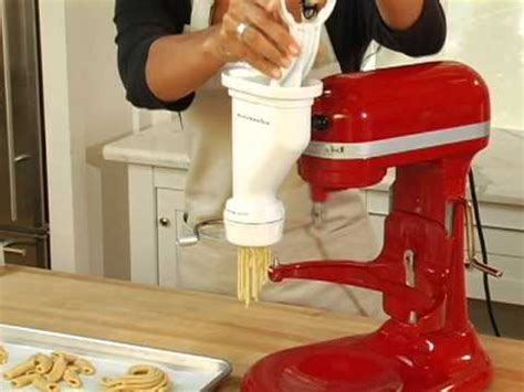 KitchenAid Pasta Press Attachment   YouTube