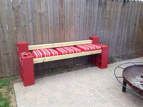 cinder block bench cinder block bench 4x4 s yard stuff to make