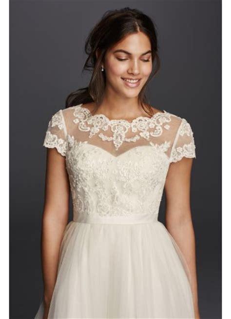 Wedding Dress Topper by Open Back Lace Applique Topper Davids Bridal