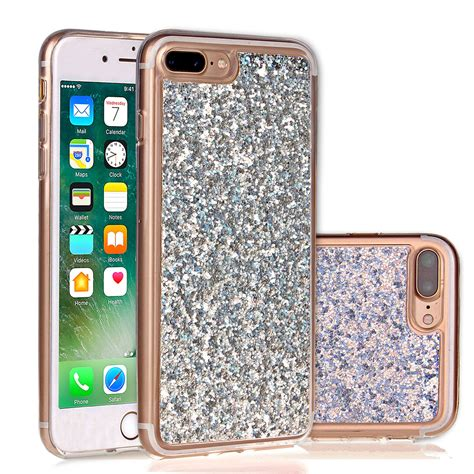 Softcase Glitter 2in1 Iphone Samsung girly bling glitter sparkly soft slim tpu back cover for iphone 7 plus ebay