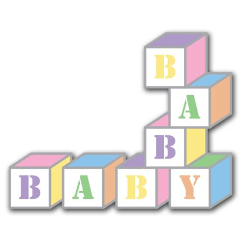 Baby Blocks Clipart baby blocks clip set designability