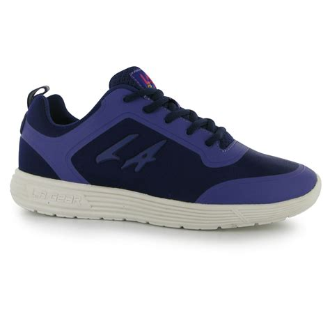la gear shoes for la gear womens rainbow trainers lace up casual