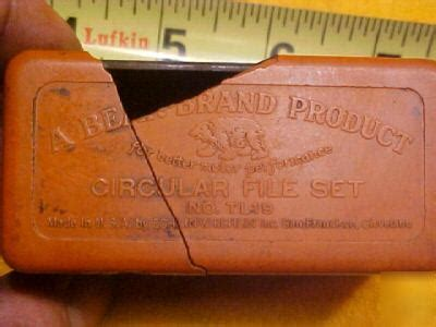 unusual machinist tools bear brand circular file set