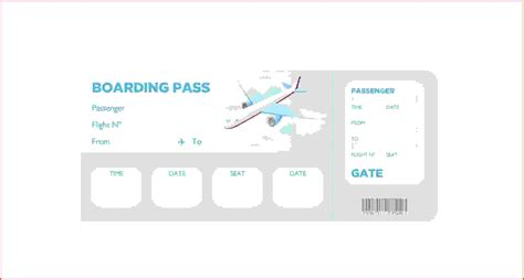 boarding pass template airline boarding pass tickets