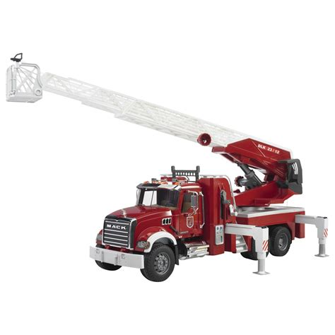 Bruder Mack Truck With Ladder And Water bruder mack granite truck qc supply
