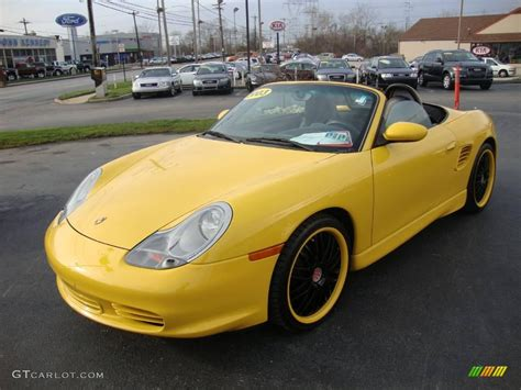 yellow porsche boxster 2003 speed yellow porsche boxster s 23437582 gtcarlot