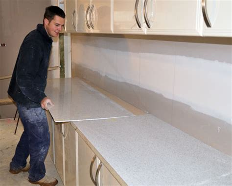 tiled bench tops installing furnishing products installing modular units fitting bench tops