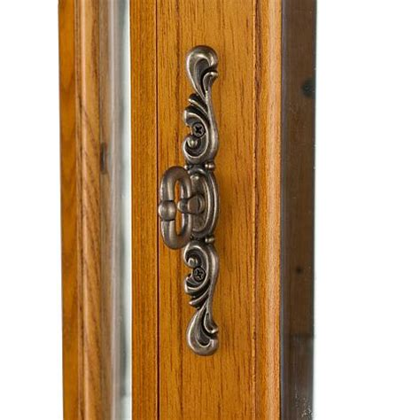 lighted curio cabinet oak lighted corner curio cabinet golden oak 6221876 hsn
