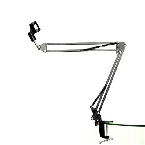 Microphone Suspension Boom Scissor Arm With 2 X Smartphone Lazypod neewer microphone suspension boom scissor arm stand