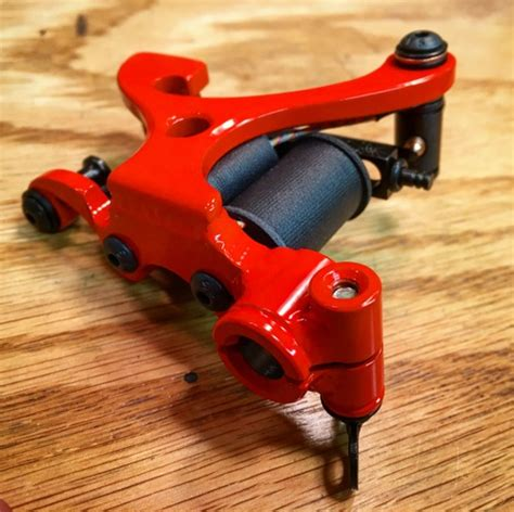 tattoo machine hardware paris shader in bright orange with black hardware and