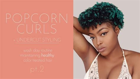 popcorn hair natural hair styling my undercut popcorn curls youtube