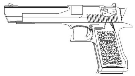 Desert Eagle Outline by Ms Paint Speed Draw Of A Desert Eagle