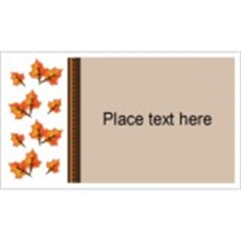 avery 27883 business card template templates thanksgiving fall leaves business cards 10