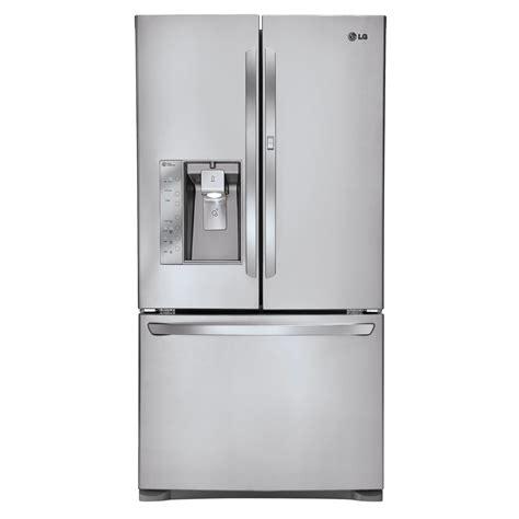 lowes lg refrigerator doors shop lg 30 5 cu ft door refrigerator with single