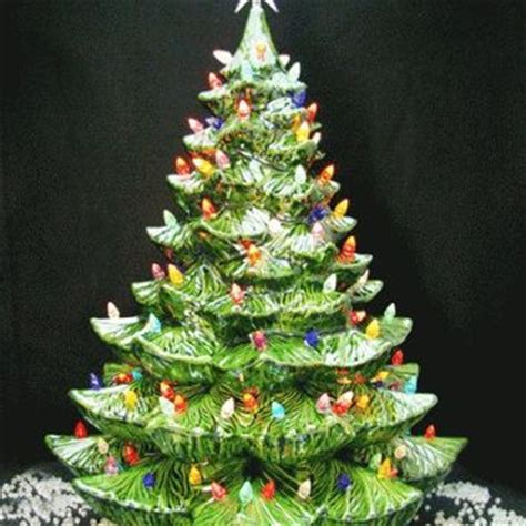 giant ceramic christmas tree 24 inches from