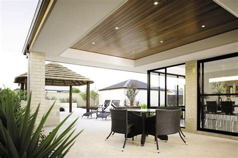 stained wood ceilings define the space outdoor living