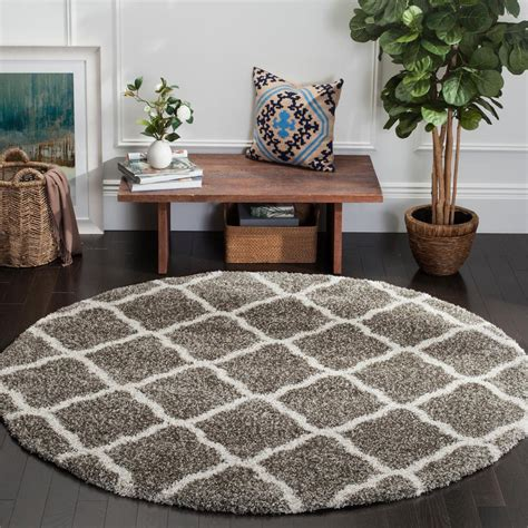 7 foot area rugs safavieh hudson shag gray ivory 7 ft x 7 ft area rug sgh283b 7r the home depot