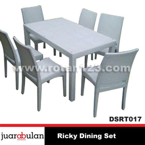 Set Meja Makan Rotan harga jual ricky dining set meja makan rotan sintetis model gambar
