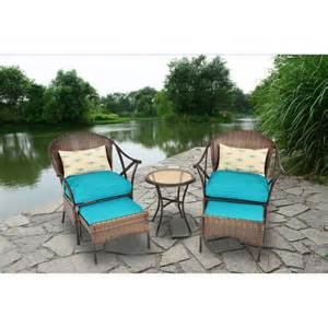 mainstays patio furniture mainstays 5 skylar glen outdoor leisure set blue