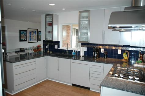white slab kitchen cabinets white slab door cabinets
